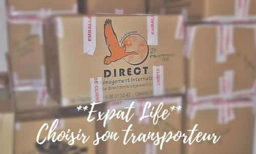 Expat life – Choisir son transporteur